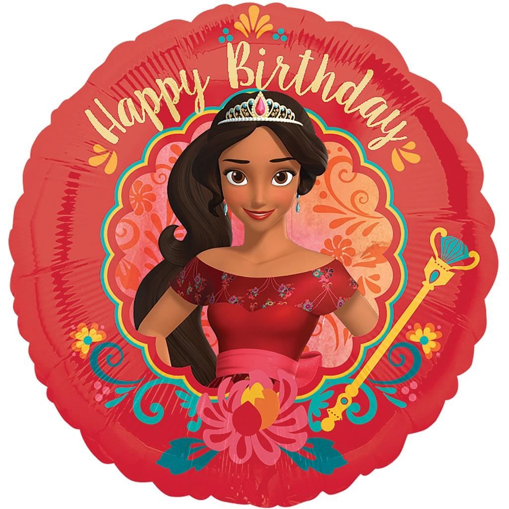 Balão Elena de Avalor Happy Birthday Foil, 43 cm