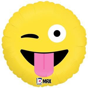 Balão Emoji Piscar o Olho Foil, 46 cm