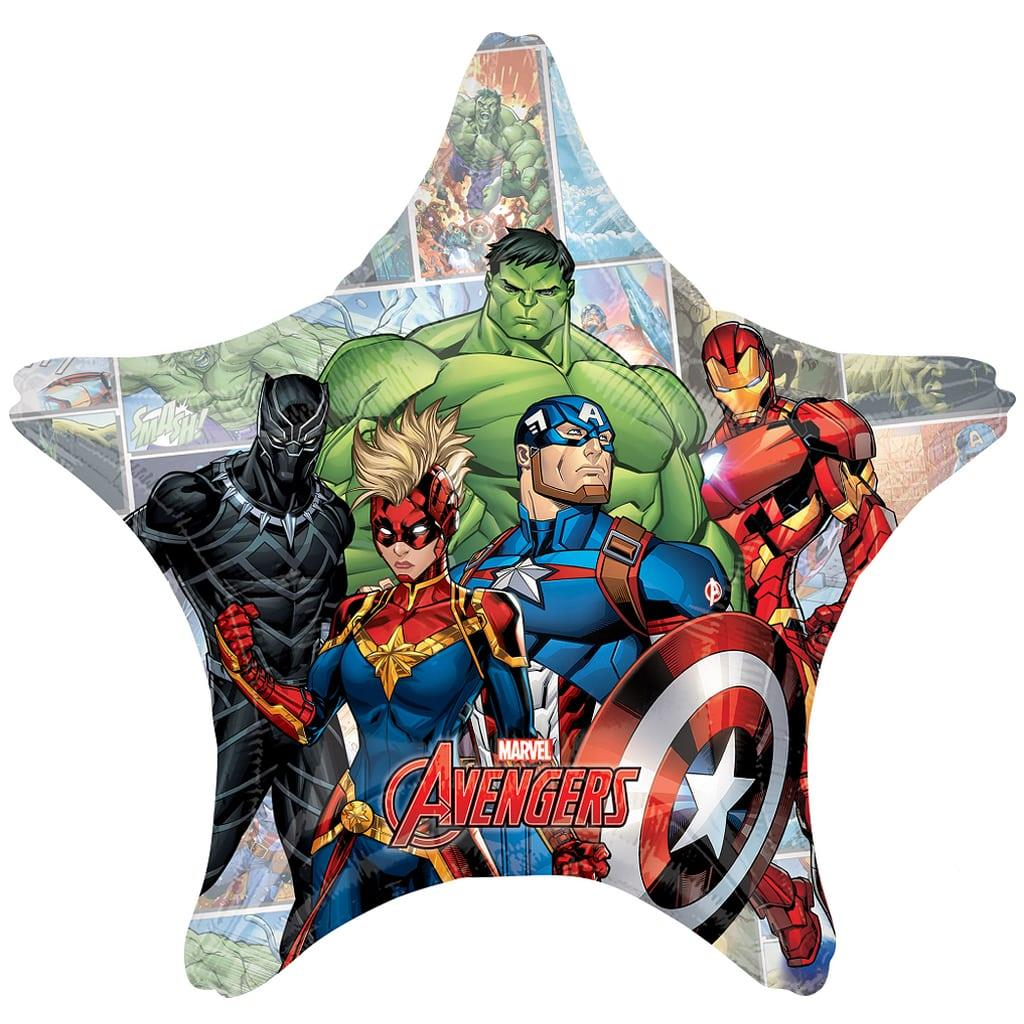 Balão Estrela Avengers Jumbo Foil, 71 cm