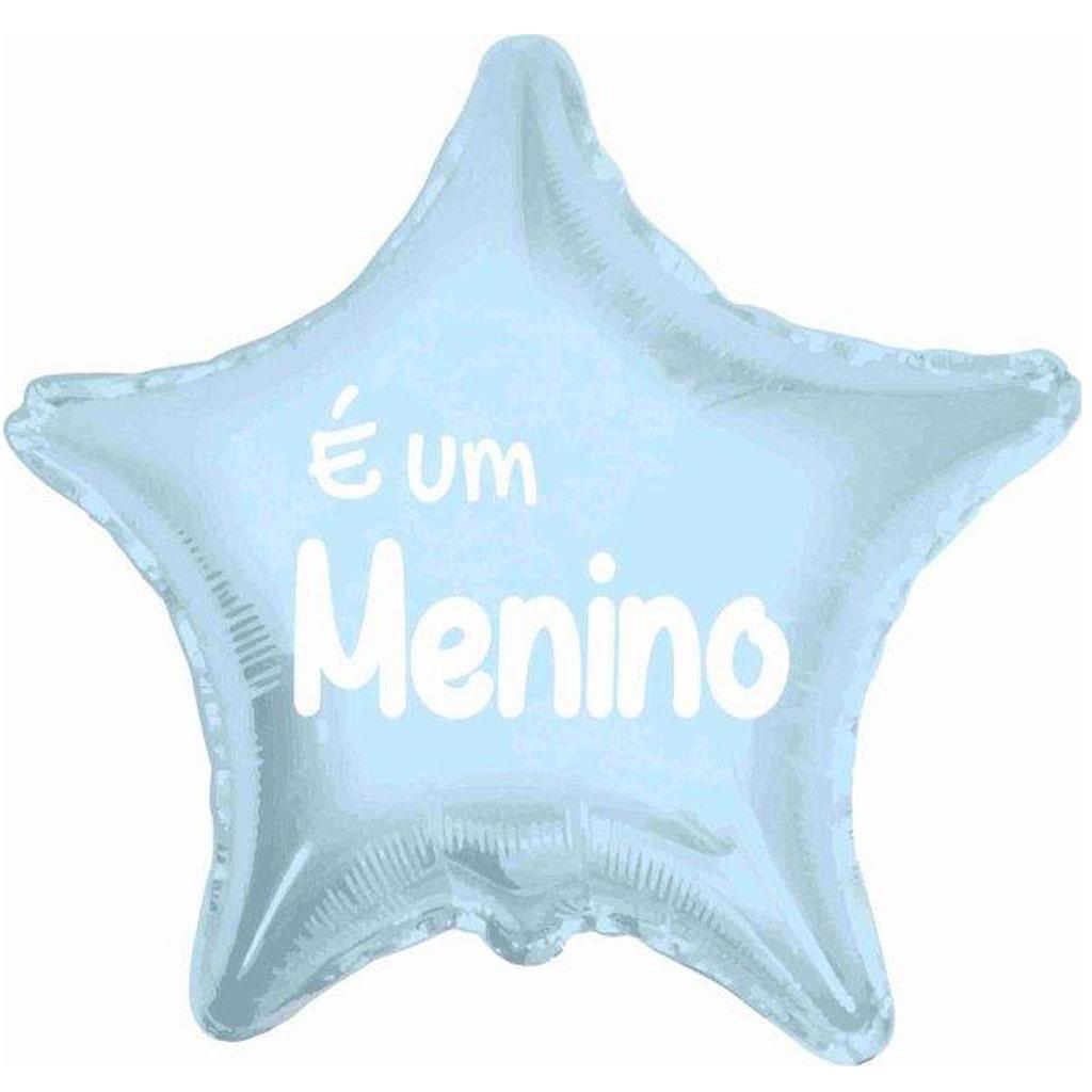 Balão Estrela Azul É Um Menino Foil, 45 cm