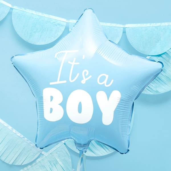 Balão Estrela Azul It´s a Boy, 48 Cm