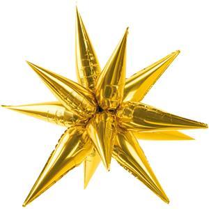 Balão Estrela Dourada 3D Foil, 70 cm