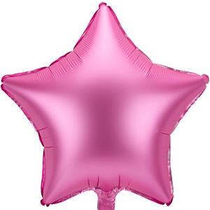 Balão Estrela Rosa Mate Foil, 48 cm