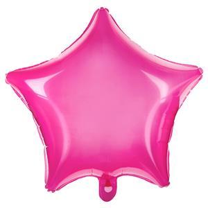 Balão Estrela Rosa Transparente Foil, 48 cm