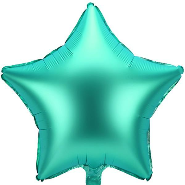 Balão Estrela Verde Mate Foil, 48 cm