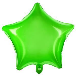Balão Estrela Verde Transparente Foil, 48 cm