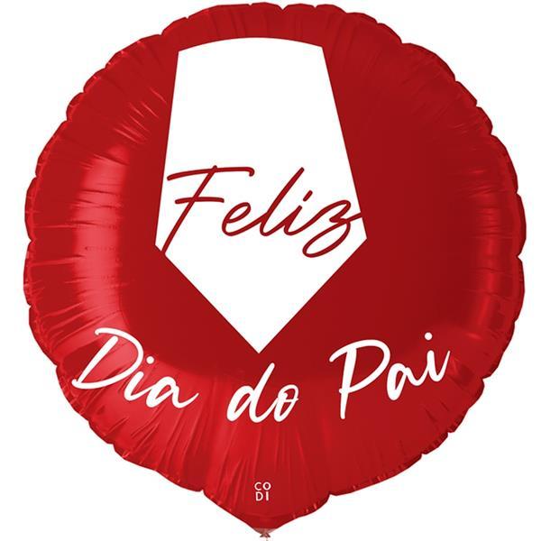 Balão Feliz Dia do Pai Vermelho Foil, 45 cm