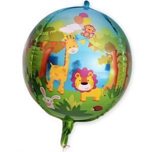 Balão Festa Animais da Selva Foil, 60 cm