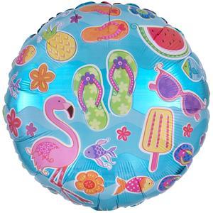 Balão Flamingo Summer Fun Foil, 45 cm
