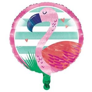 Balão Flamingo Tropical Foil, 45 cm