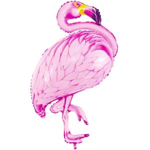 Balão Flamingo Tropical Foil, 95 cm