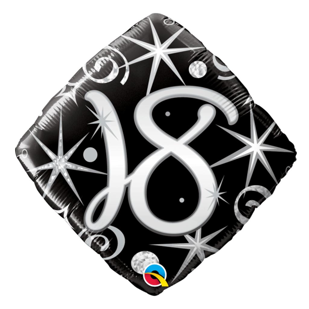 Balão Foil Diamond 18 Elegant Sparkles