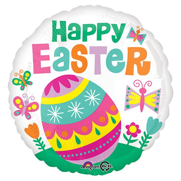 Balão Foil Happy Easter, 43 cm