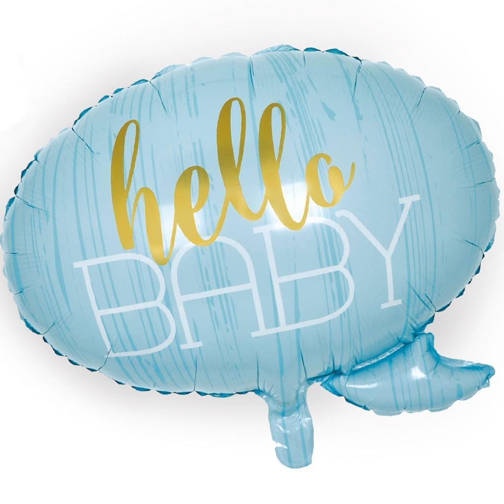 Balão Foil Hello Baby Azul, 58 cm