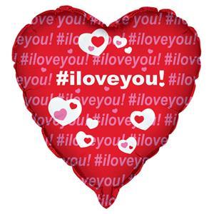 Balão Foil I Love You Coração