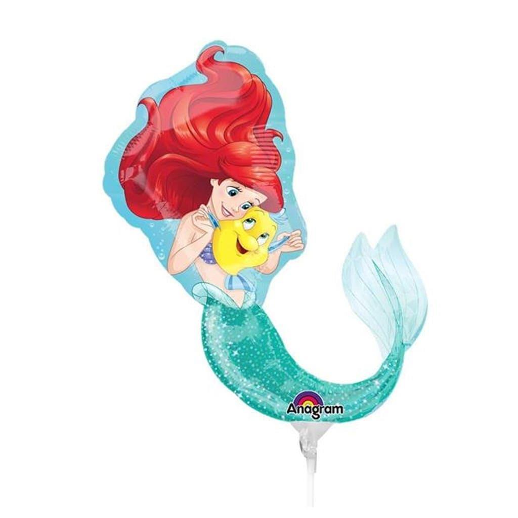 Balão Foil Mini Shape Princesa Ariel, 30 cm