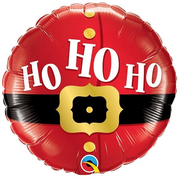 Balão Foil Natal Ho Ho Ho Vermelho, 46 cm