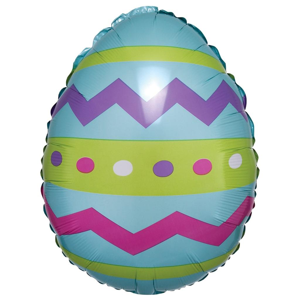 Balão Foil Ovo da Páscoa Colorido