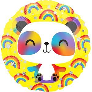 Balão Foil Panda Arco-Íris, 43 cm
