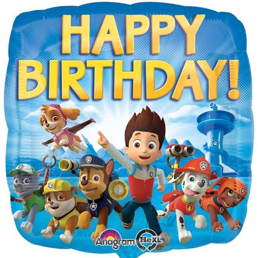 Balão Foil Patrulha Pata Happy Birthday