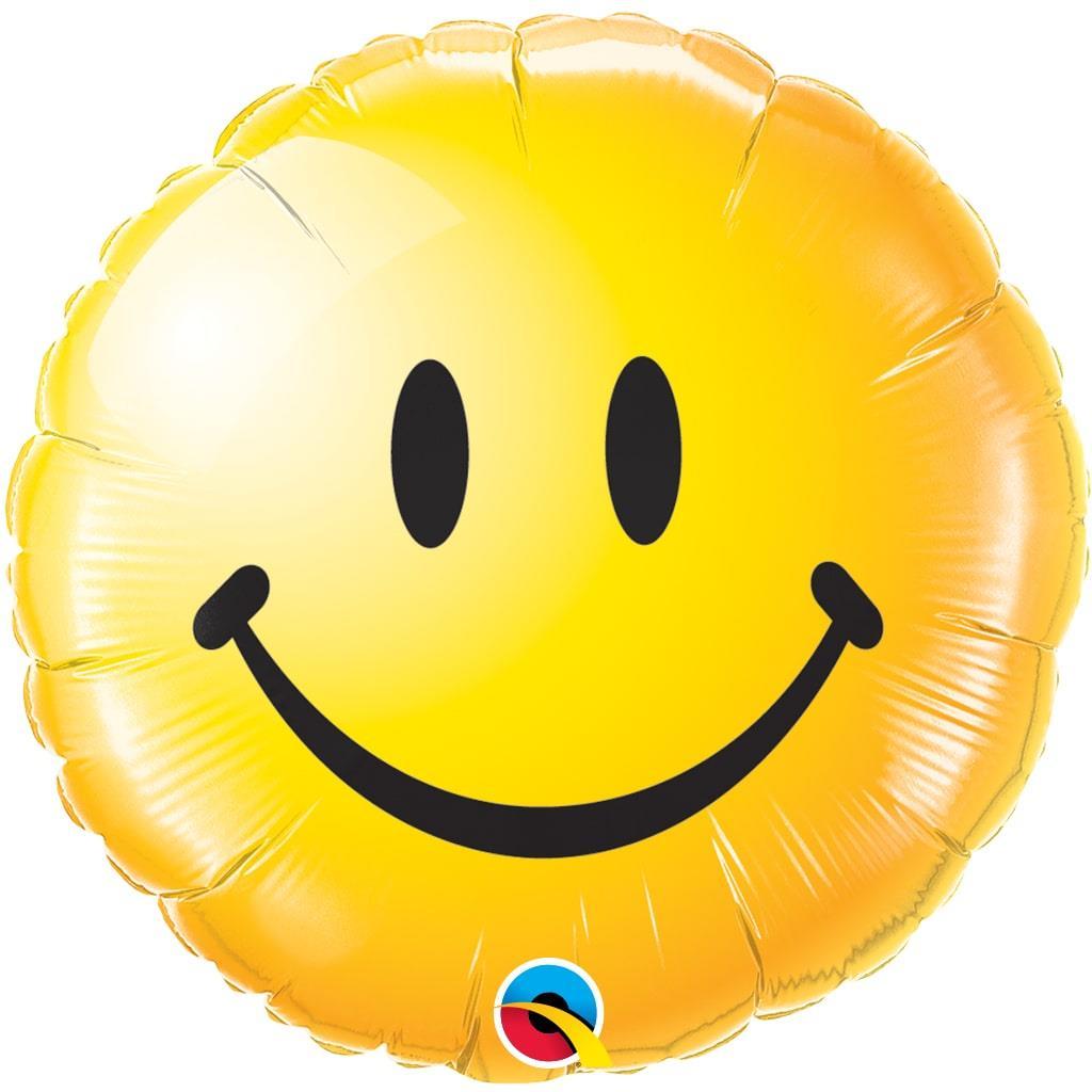 Balão Foil Smile Amarelo 46 cm