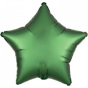 Balão Forma Estrela Verde Mate Foil, 46 cm