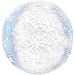 Balão Frozen Snowflakes Orbz, 40 cm