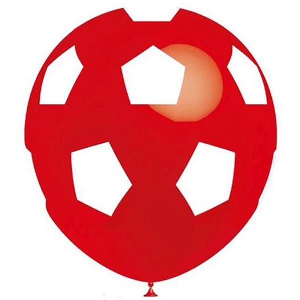 Balão Futebol Vermelho, 8 unid.