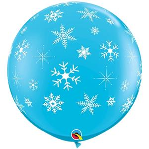 Balão Gigante Flocos Neve, 91 cm