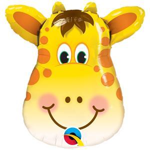 Balão Girafa Sorridente Mini Shape Foil, 35 cm