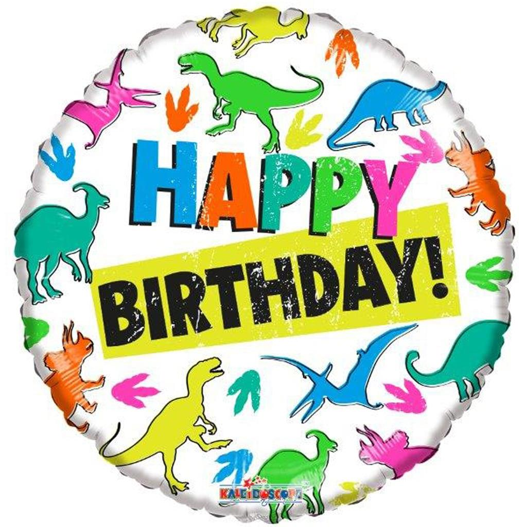 Balão Happpy Birthday Reino dos Dinossauros Foil, 45 cm