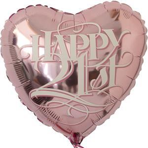 Balão Happy 21 St, 46 cm