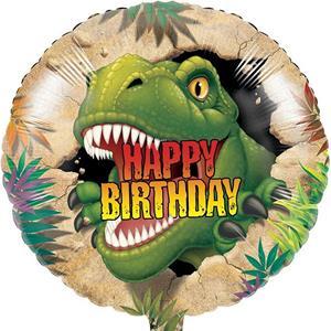 Balão Happy Birthday Dino Blast Foil, 45 cm