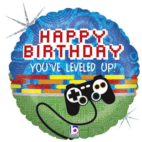 Balão Happy Birthday Game Foil, 46 cm