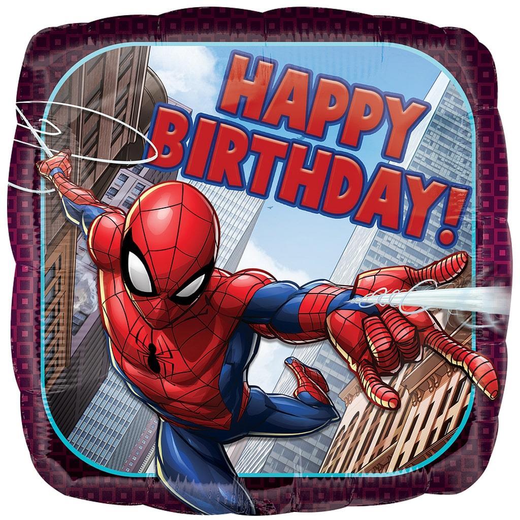 Balão Happy Birthday Homem Aranha Foil, 43 cm