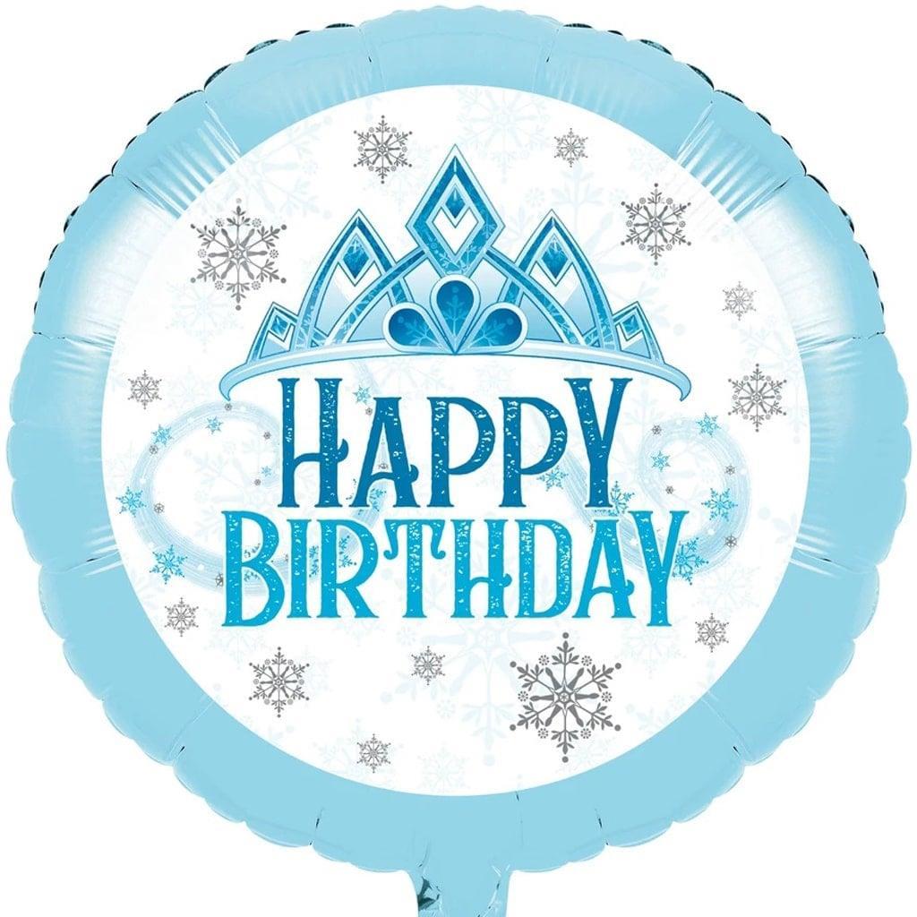 Balão Happy Birthday Princesa do Gelo Foil, 45 cm