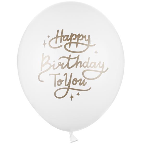 Balão Happy Birthday To You Látex, 30 cm