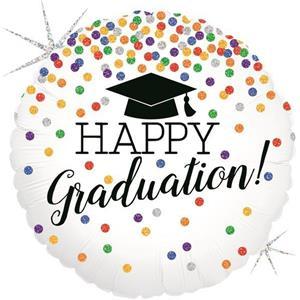 Balão Happy Graduation Foil, 46 cm