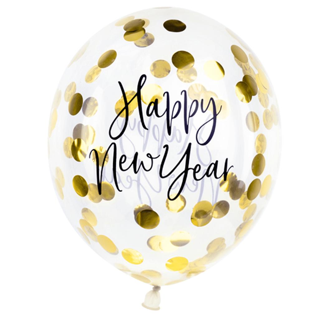 Balão Happy New Year Latex, 30 cm, 3 unid.