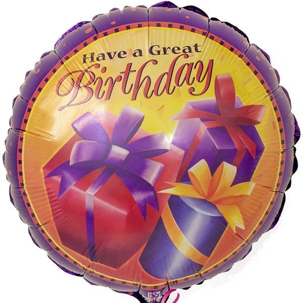 Balão Have a Great Balão Have a Great Birthday Foil, 46 cm