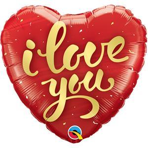 Balão I Love You Coração Foil, 46 cm