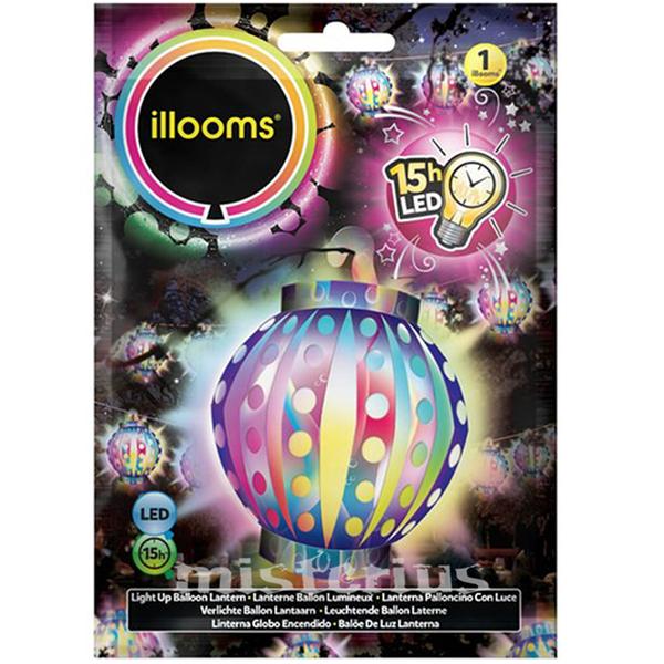 Balão Lanterna Led Multicor 1 un