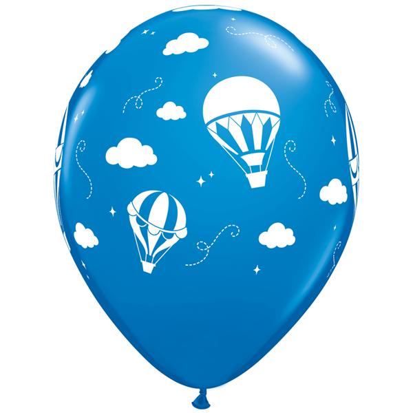 Balão Latex Balão de Ar Quente Azul, 28 Cm