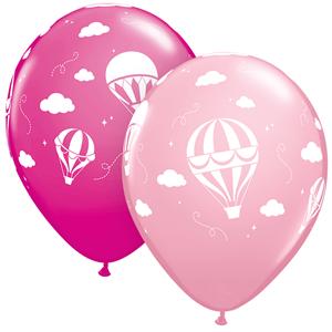 Balão Latex Balão de Ar Quente Rosa, 28 Cm