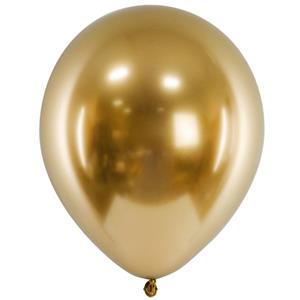 Balão Látex Cromado Dourado