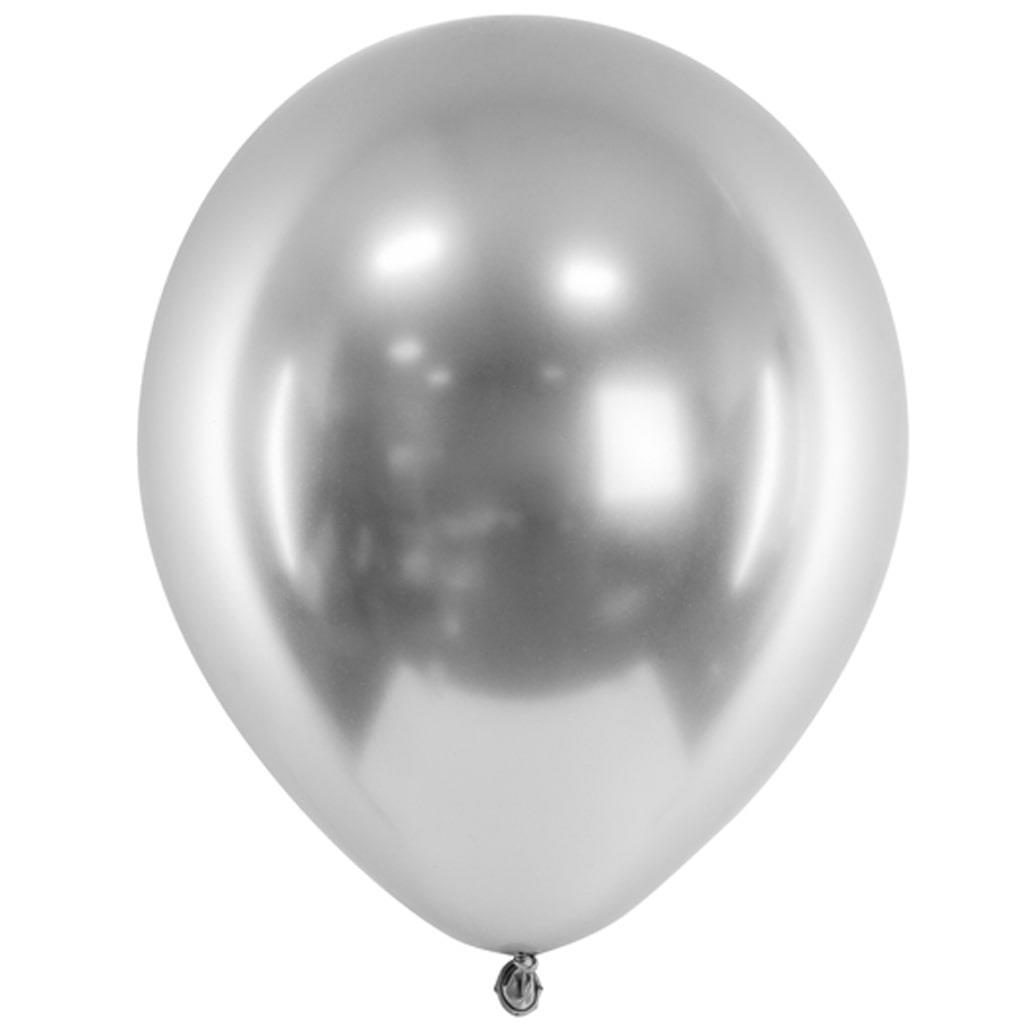 Balão Látex Cromado Prateado