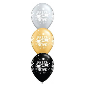 Balão Latex Feliz Ano Novo, Unid.