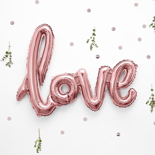 Balão Love Rosa Foil 76x56cm