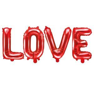 Balão Love Foil Vermelho