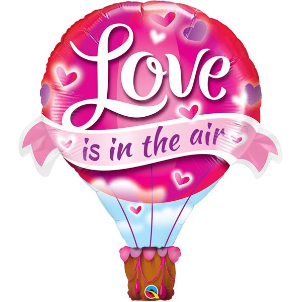 Balão Love Is In The Air SuperShape Foil, 107 cm